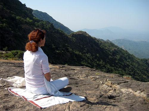 Hoog in de bergen van Rajasthan